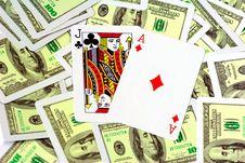 Free Blackjack! Royalty Free Stock Photos - 10016838