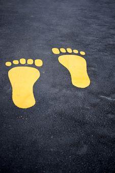 Free Footpath Markings Stock Image - 10016891