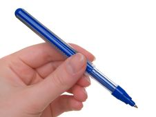 Free Pen With Hand Stock Photography - 10017352