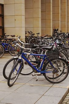 Free Bicycles At The Parking Lot Royalty Free Stock Photo - 10017645