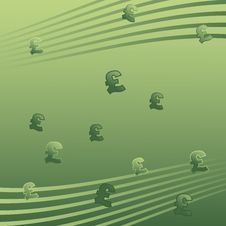 Free Green Pound Signs Background Stock Image - 10018181