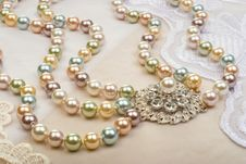 Necklace Closeup Royalty Free Stock Photo