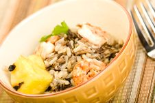 Free Grilled Shrimp With Wild Rice Stock Images - 10018574