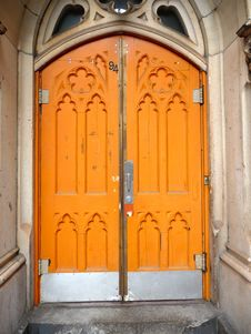 Free Orange Doors Stock Image - 10018901