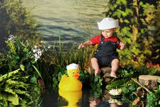 Free Two Tiny Sailors Royalty Free Stock Photos - 10019468