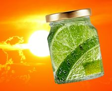 Free Lime, Lemon Lime, Lemon, Citric Acid Stock Images - 100195884