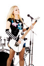 Free Rock-n-roll With The Beautiful Blond Stock Images - 10020134