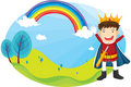 Free Boy And Rainbow Royalty Free Stock Image - 10021226