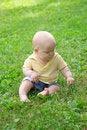 Free Sitting Little Baby Stock Image - 10025331