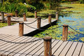 Free Dock On Pond Stock Image - 10027741
