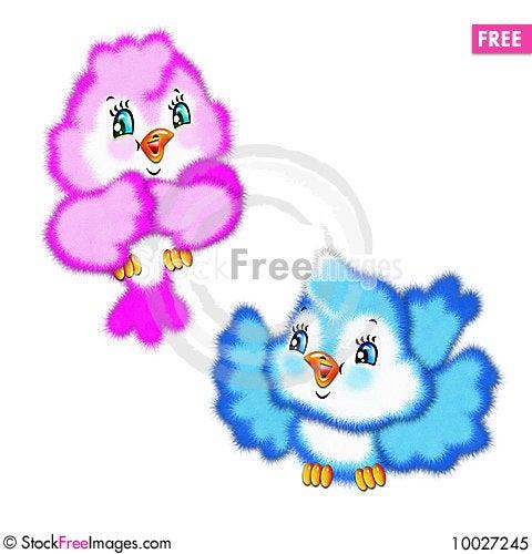 Drawn Multi Coloured Birds