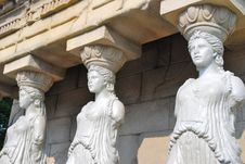 Free Female Statues Of Erechtheion Temple Royalty Free Stock Photo - 10020695