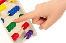Free Hand And Abacus Royalty Free Stock Photo - 10023245