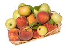 Free Fresh Apples With Peaches Stock Photo - 10023580