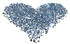 Free Diamond Heart Royalty Free Stock Image - 10023956