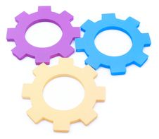 Free Teamwork Cogs Royalty Free Stock Image - 10024056