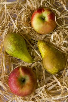 Pears And Apples Royalty Free Stock Images