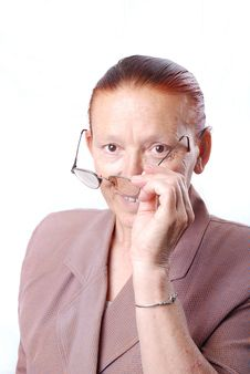 Free Middle Aged Woman With Glasses Stock Image - 10026641