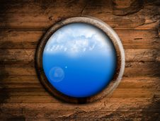 Round Sky Window Royalty Free Stock Photography