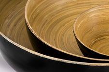 Free Closeup Bamboo Bowls Stock Images - 10026904