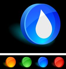 Free Water Icon. Royalty Free Stock Image - 10026906
