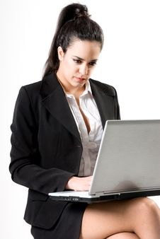 Free Businesswoman With Laptop Royalty Free Stock Photo - 10027025