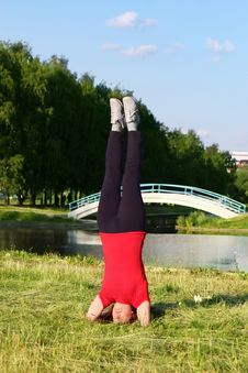 Free Woman Practicing Yoga. Royalty Free Stock Photo - 10027145
