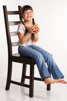 Free Apple For A Girl Stock Photo - 10027210