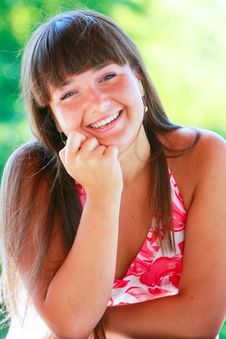 Free Portrait Of Happy Girl Stock Images - 10027304