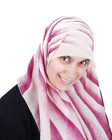 Muslim Covered Beautiful Happy Woman Royalty Free Stock Image