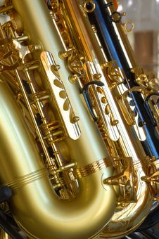 Free Saxophones. Stock Image - 10027501