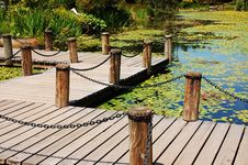 Dock On Pond Stock Image