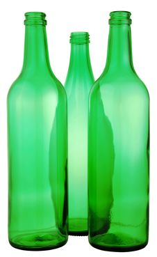 Free Bottle From Green Glass Royalty Free Stock Photo - 10027845