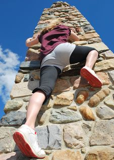 Free Climbing The Pillar Royalty Free Stock Photography - 10028167