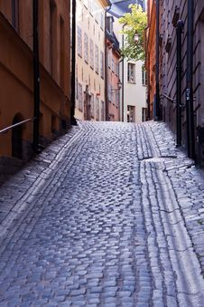 Free Old Town, Stockholm.Back Lite Stock Photo - 10028700