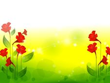 Free Red Flower With Lawn Stock Photography - 10028872