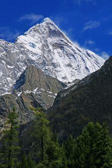 Siguniang Snow Mountain Peak Royalty Free Stock Image