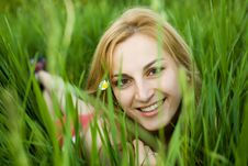 Free Girl In Grass Stock Photography - 10029892