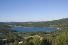 Free Lake In Provence Stock Photography - 10029972