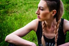 Free Green, Nature, Beauty, Girl Stock Photography - 100245172