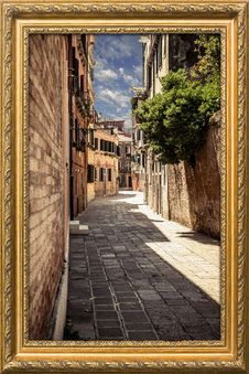 Free Picture Frame, Window, Sky, Alley Royalty Free Stock Image - 100245756