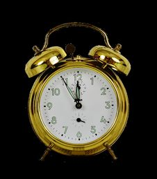 Free Clock, Yellow, Home Accessories, Alarm Clock Royalty Free Stock Images - 100249919