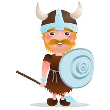 Free Vector Viking Warrior. Cartoon Character With Red Hair Stock Photos - 100264133