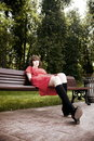 Free Beauty Woman Sitting On A Park Bench Royalty Free Stock Photo - 10034585