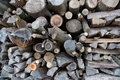 Free Stacked Firewood In Winter Stock Photos - 10035253