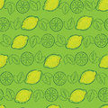 Free Seamless Pattern From Lemons Royalty Free Stock Photography - 10035557