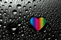 Free Colorful Heart With Drops Stock Images - 10037134