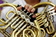 Free Horn Player - Detail Royalty Free Stock Photos - 10030398