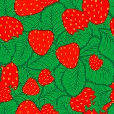 Seamless Strawberry Pattern Royalty Free Stock Photography