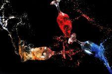 Free Glass Splashes Royalty Free Stock Photos - 10031408